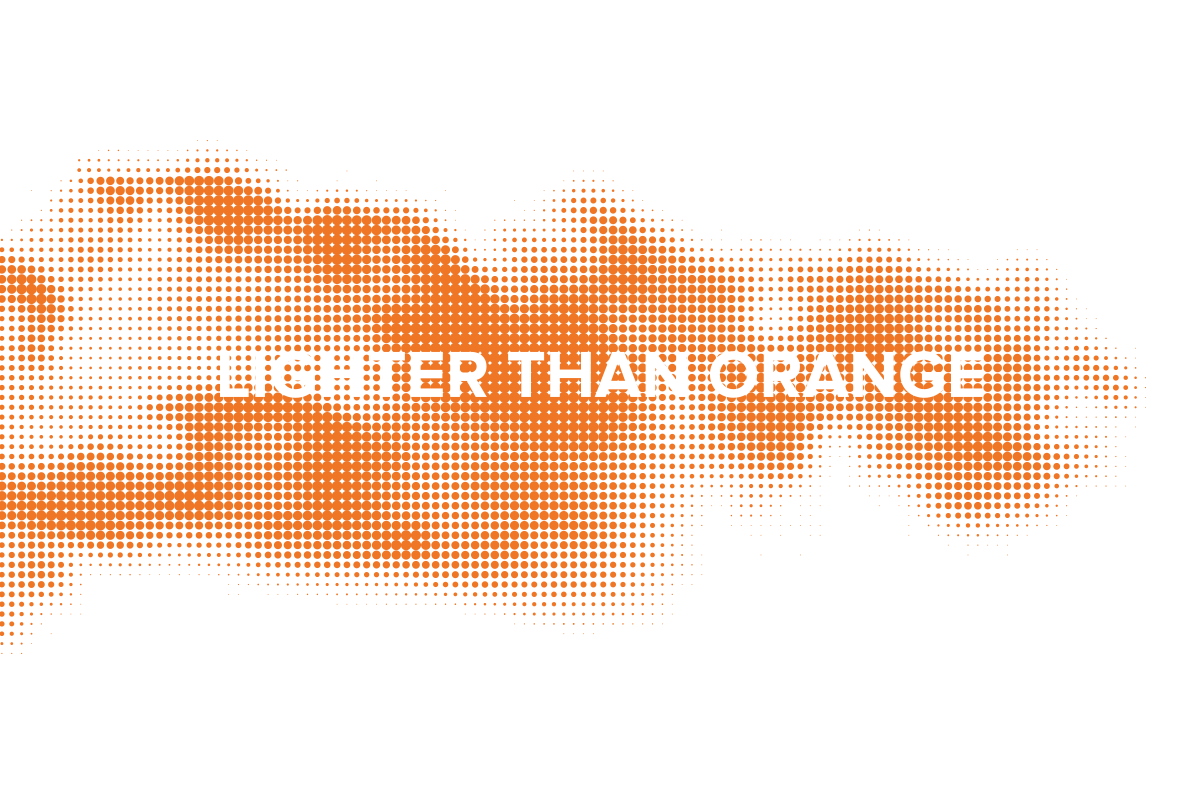 Lighter Than Orange Imagery